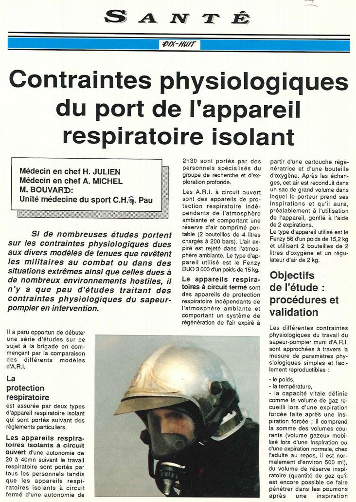 article pompiers port ARI 1