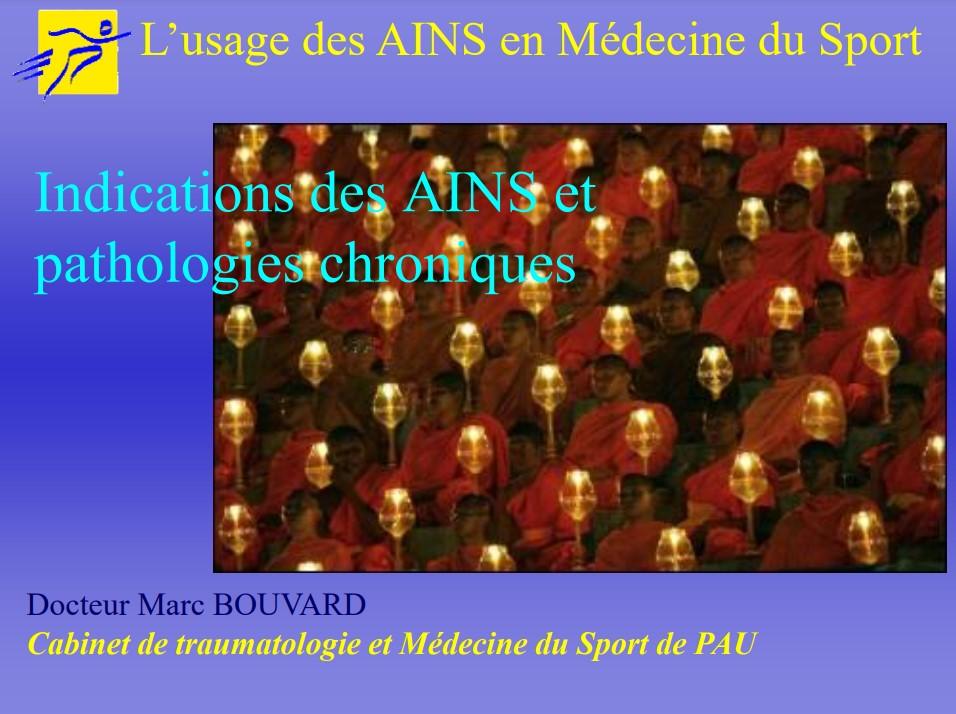 L'usage des AINS en médecine du sport